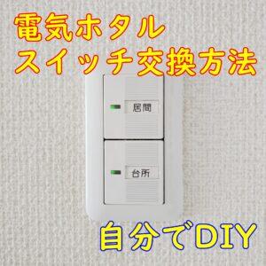 電気ホタルスイッチ交換方法【自分でDIY】