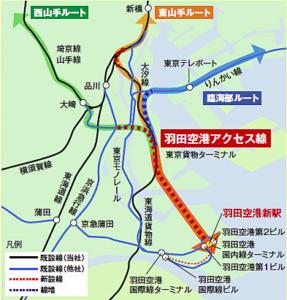 羽田空港アクセス線ルート