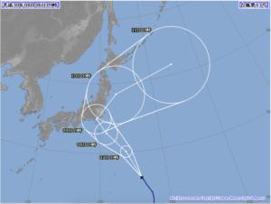 台風13号いつ