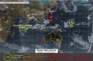 台風23号進路予想図