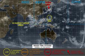 台風22号進路予想図