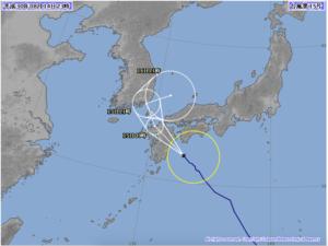 台風15号進路変更