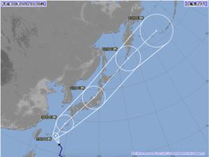 台風24号 気象庁