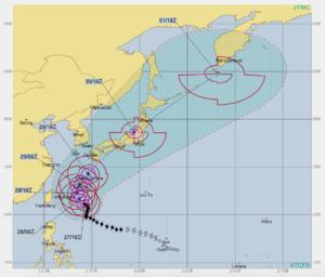 台風24号 米軍