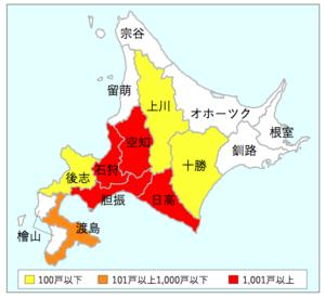 北海道の停電地域