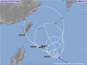 台風24号気象庁進路