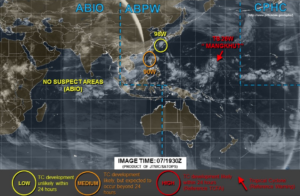 台風23号進路図