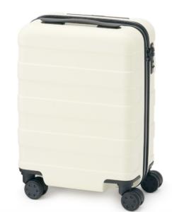 無印良品ハードキャリーケース」300円コインロッカースーツケース