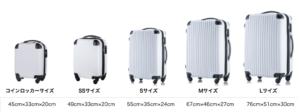 「トラベルデパート」スーツケースサイズ