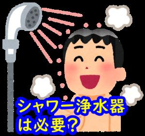 シャワー浄水器は必要?